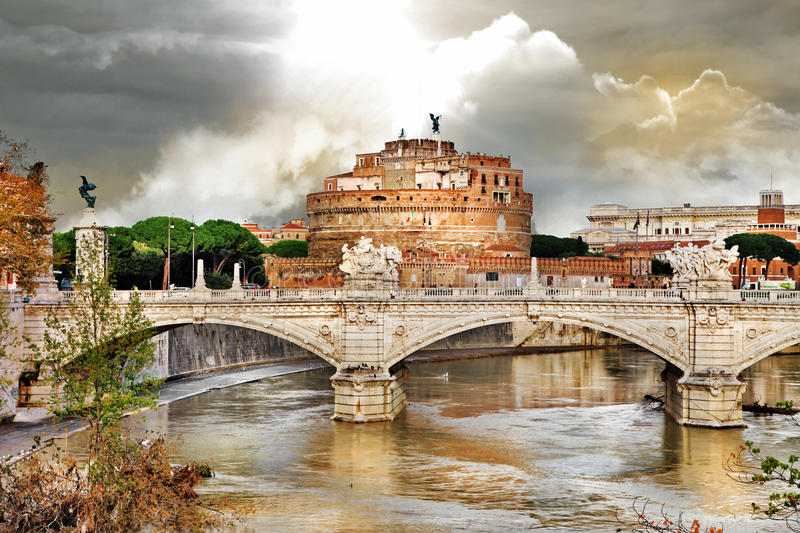 Download Roman landmarks, st Angelo stock photo. Image of archangel - 28355904