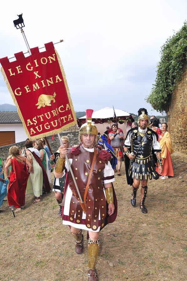 Roman Legioen. stock afbeeldingen