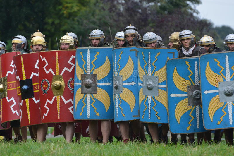 Roman legioen stock foto's