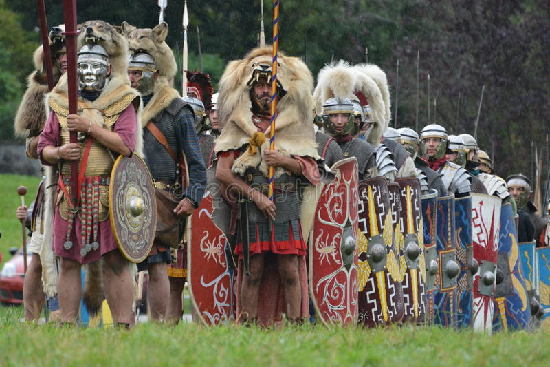 Roman legioen royalty-vrije stock foto's