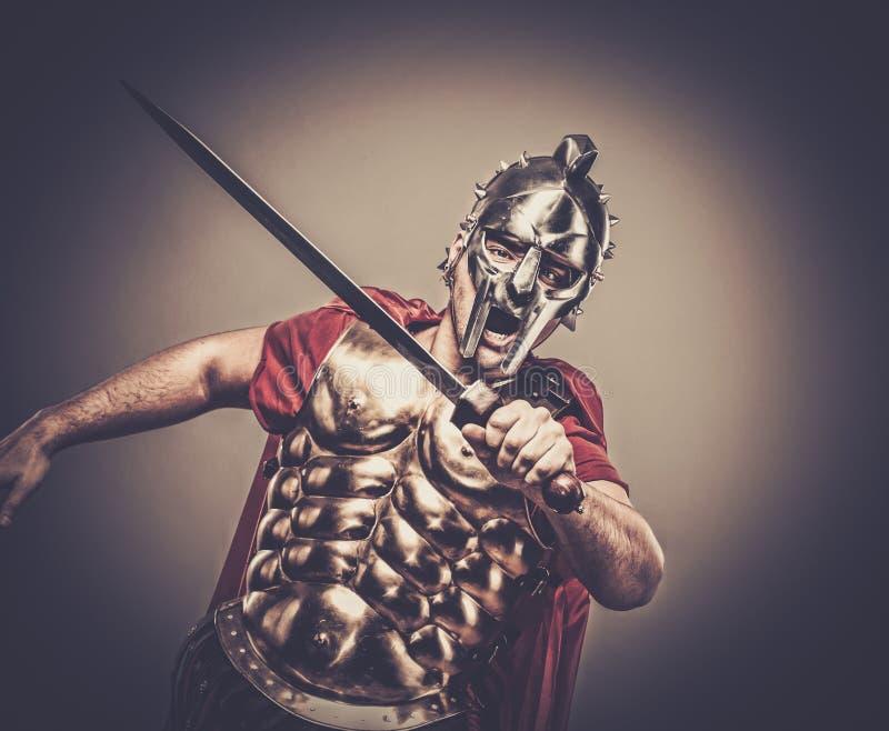 roman legionairmilitair stock afbeelding