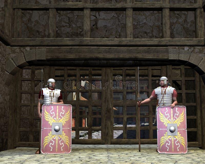 Download Roman Legionary Gate Guards Stock Illustration - Image: 19793808