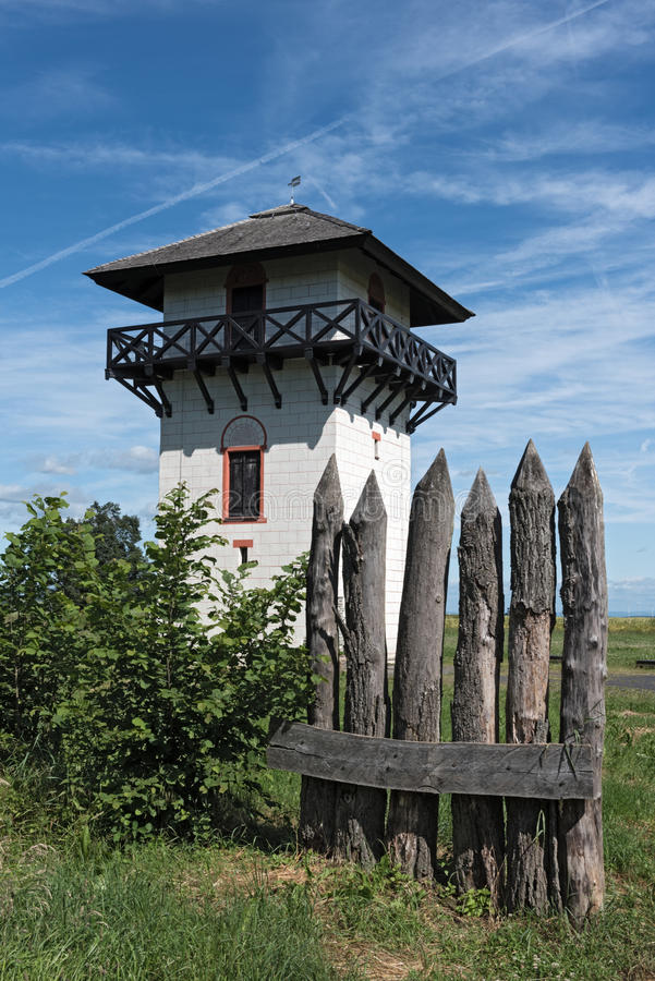 Roman Limes Watch Tower near Idstein-Dasbach, Hesse, Germany.  stock images