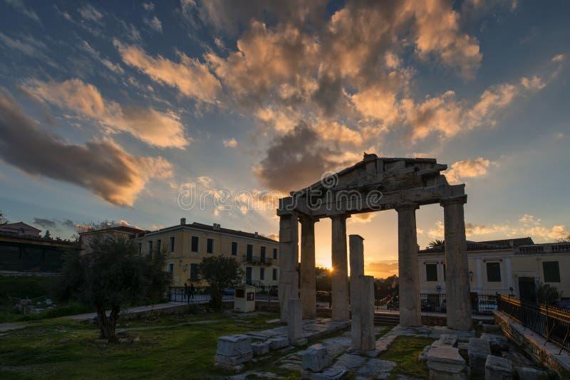 Roman Market Monastiraki Greece antigo fotos de stock royalty free