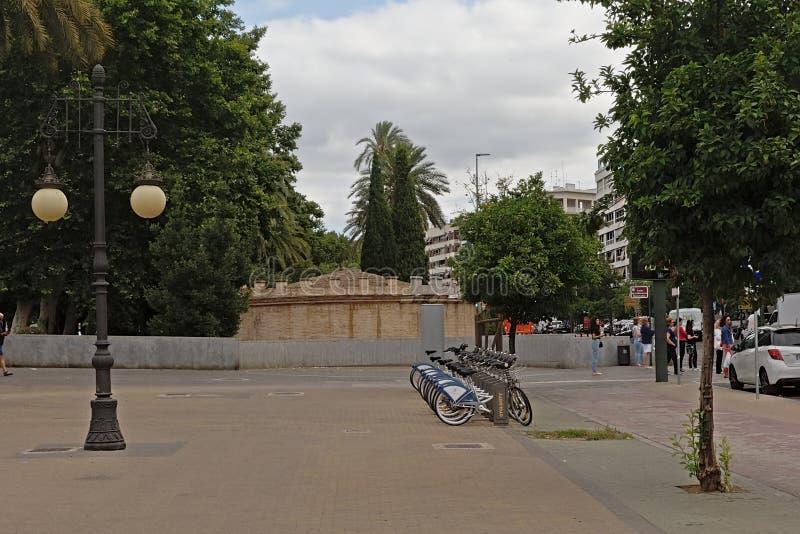 Roman mausoleum  along Jardines de la Victoria city park in Cordoba, Spain royalty free stock image