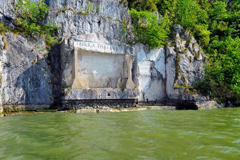 Roman memorial plaque `Tabula Traiana`, Serbia stock photos