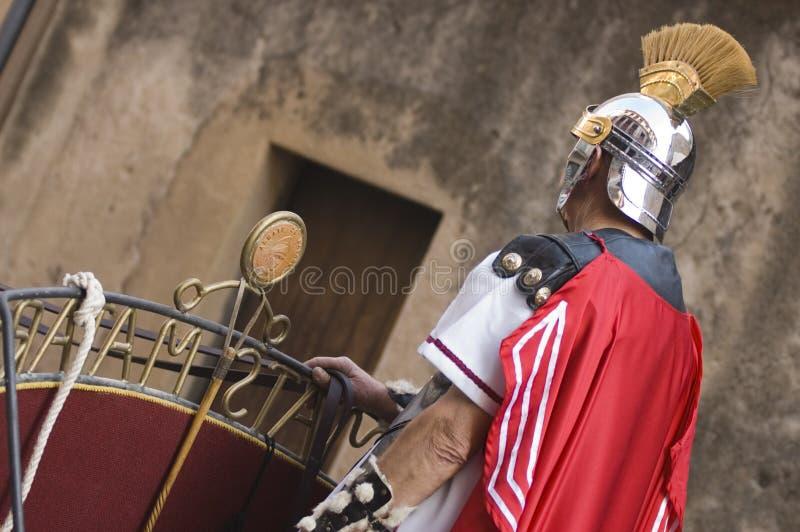 Roman Militair in Pasen stock afbeeldingen