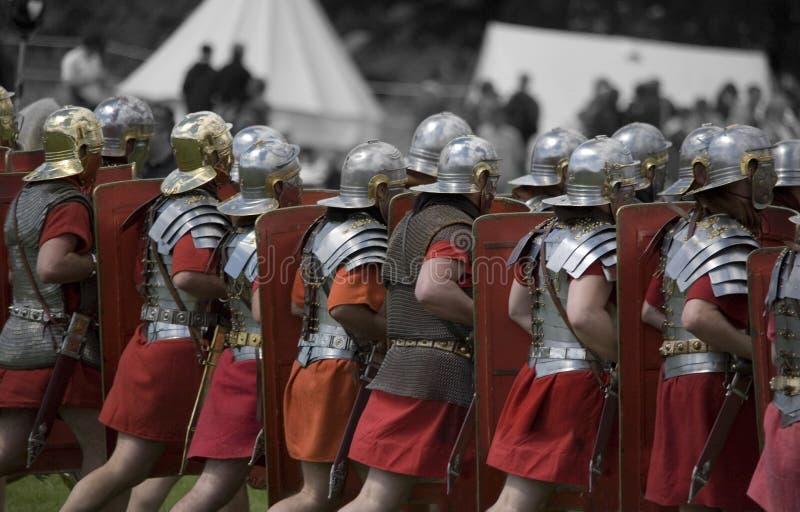 Roman militaire weer invoeren stock fotografie