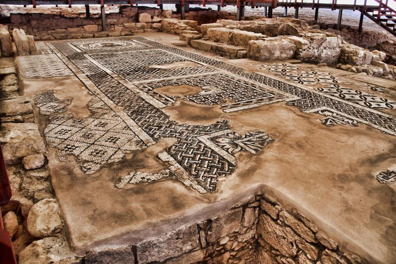 Roman monumenten Kourion, Cyprus royalty-vrije stock foto