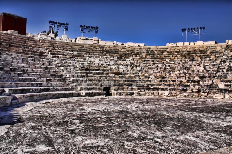 Roman monumenten Kourion, Cyprus stock foto's