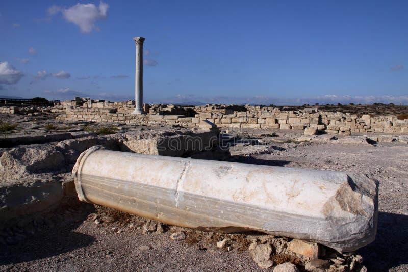 Roman monumenten Kourion, Cyprus royalty-vrije stock foto's