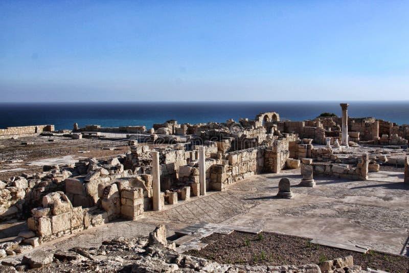 Roman monumenten Kourion, Cyprus royalty-vrije stock afbeelding