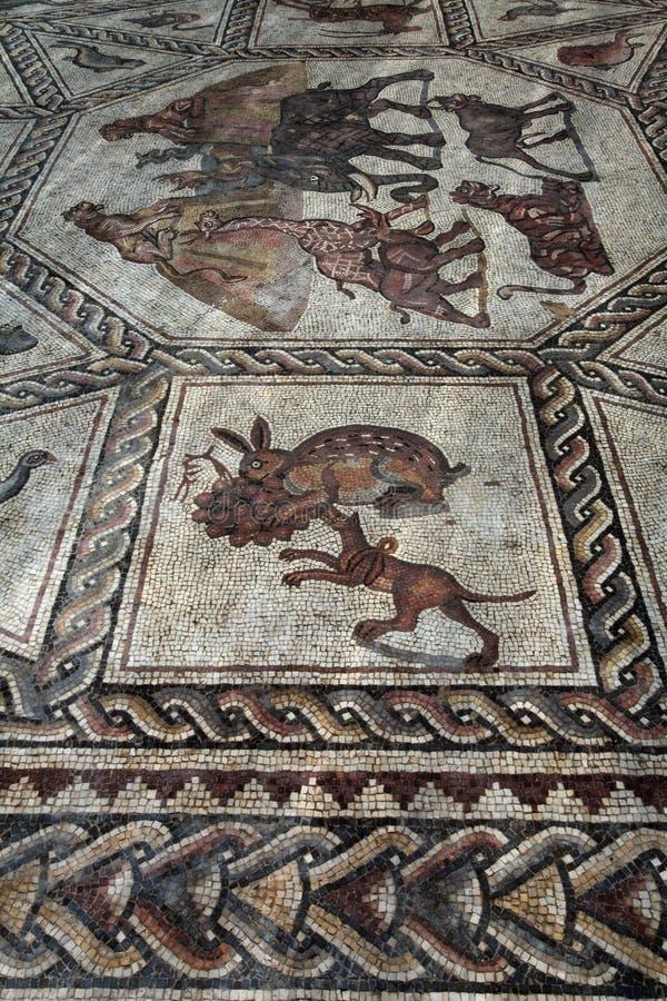 Roman mosaic stock image