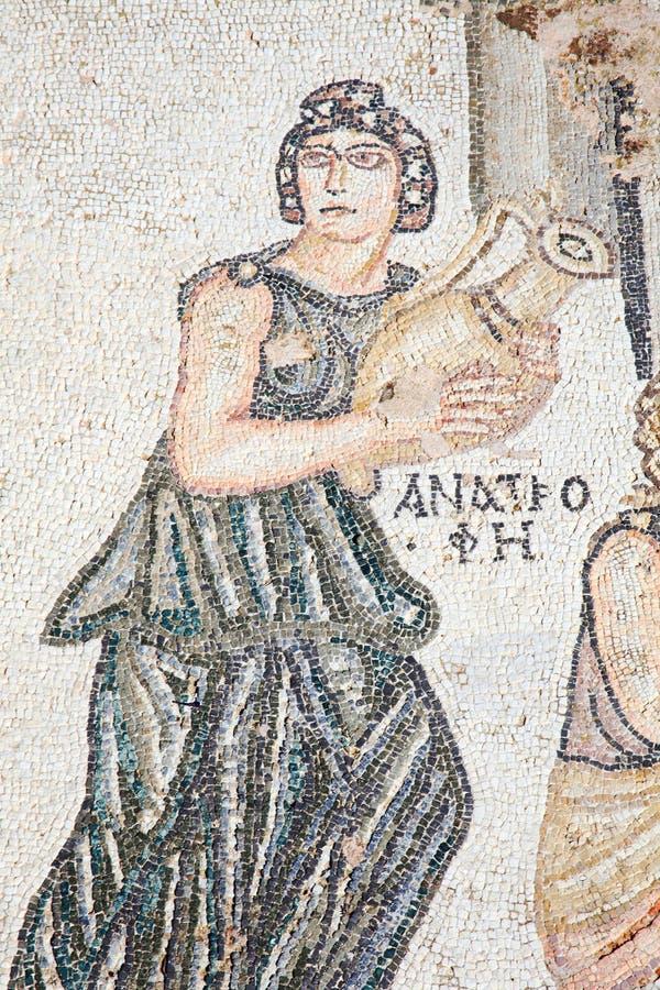 Roman mosaic stock photography