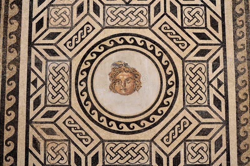 Roman mozaïek in Christian Kings Alcazar, Spanje royalty-vrije stock foto