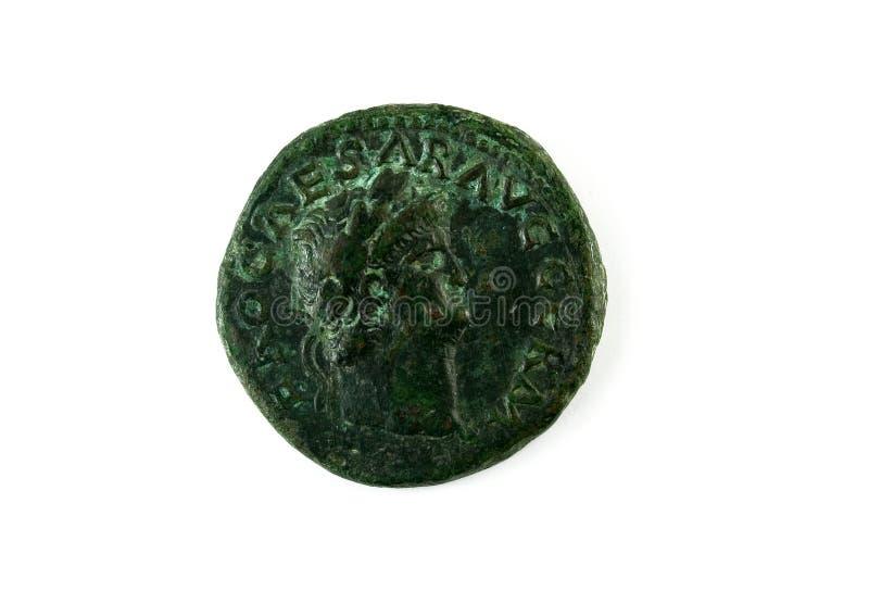Roman muntstuk van Nero royalty-vrije stock afbeeldingen