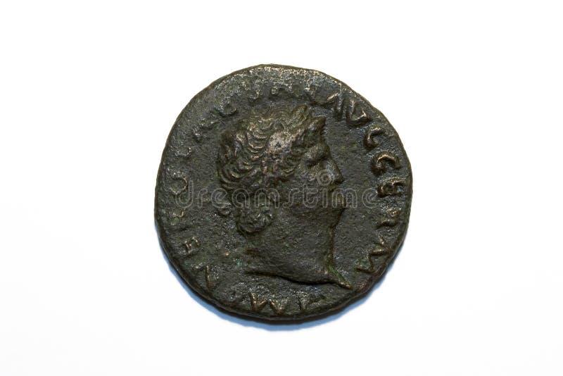 Roman muntstuk van Nero stock foto's
