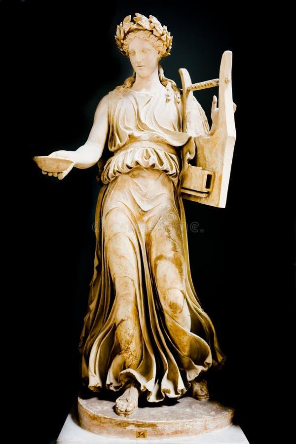 Roman muse van muziek stock foto