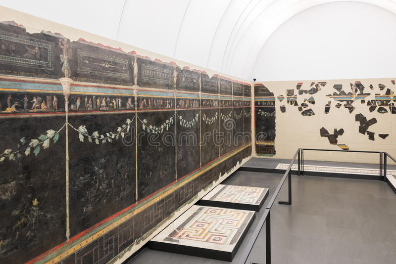 Roman Museum nacional - pinturas de pared imágenes de archivo libres de regalías