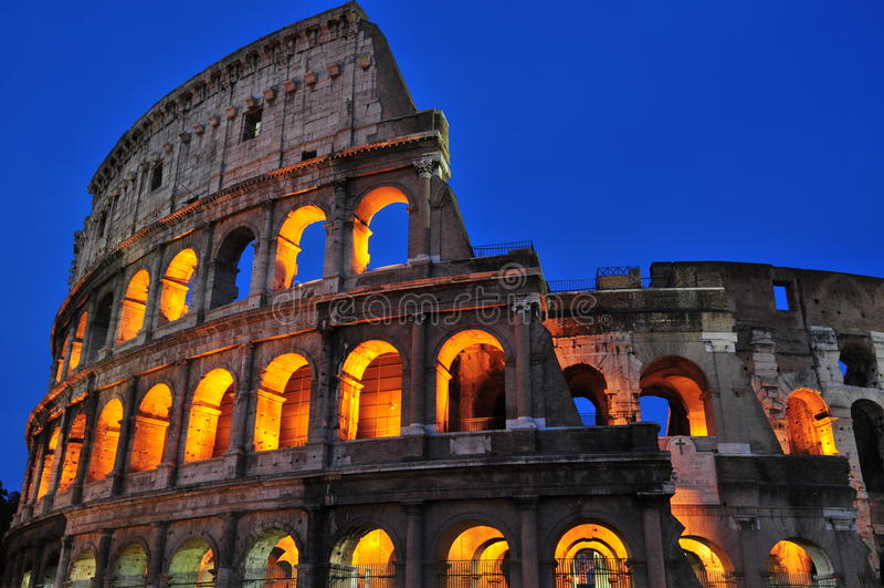 Roman nights (the Coliseum) stock image