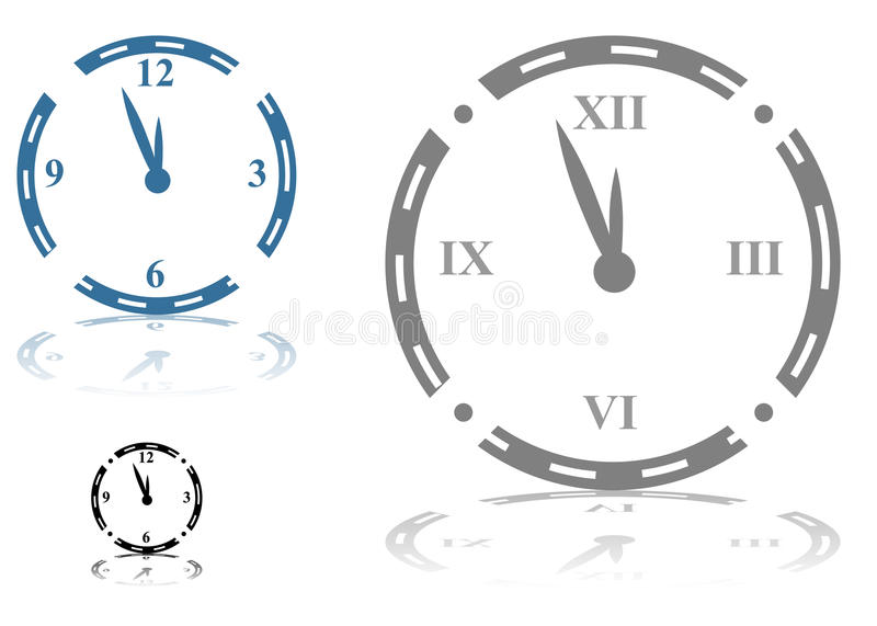 Download Roman Numeral Clock stock vector. Image of shape, blue - 14870073