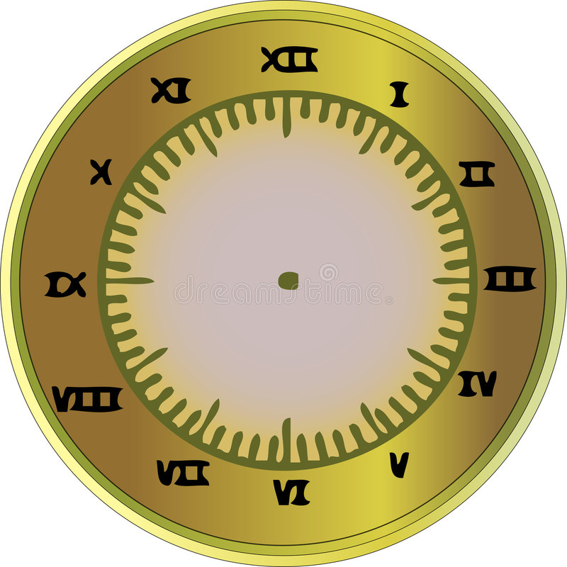 Download Roman Numeral Clock stock vector. Image of design, seconds - 6168970