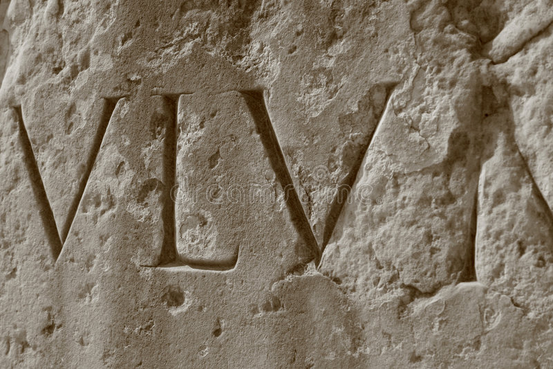 Roman Numerals, Roman Coliseum royalty free stock photos