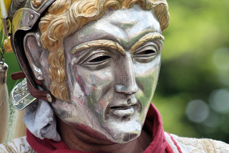 Download Roman parade mask stock image. Image of riders, ornament - 870619