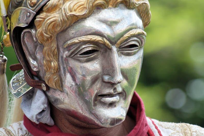 Roman parade mask royalty free stock images
