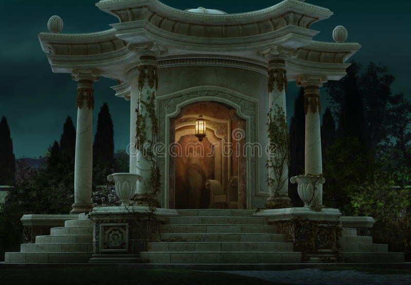 Roman Pavilion, 3d CG. illustration stock