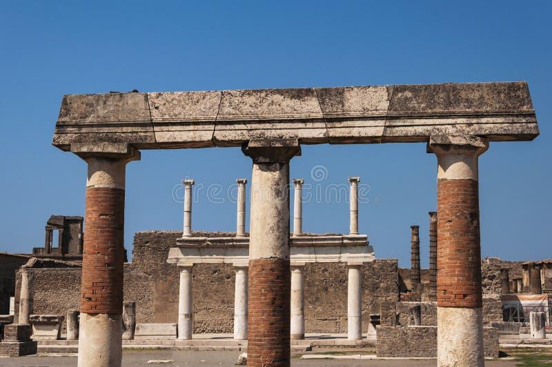 Pompeii. Roman Pompeii ruins, Foro in Regio VII royalty free stock photography