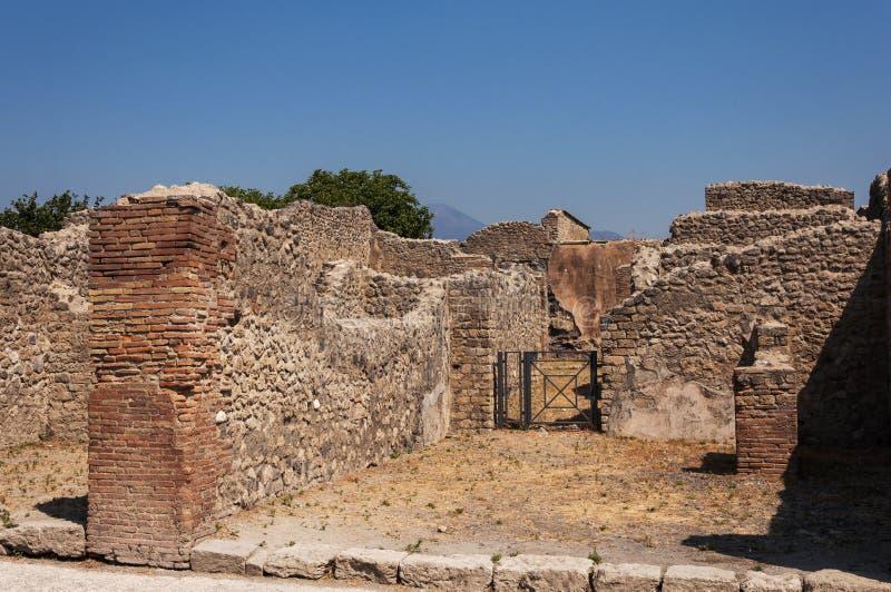 Pompeii. Roman Pompeii ruins, Houses in Regio VII royalty free stock photos