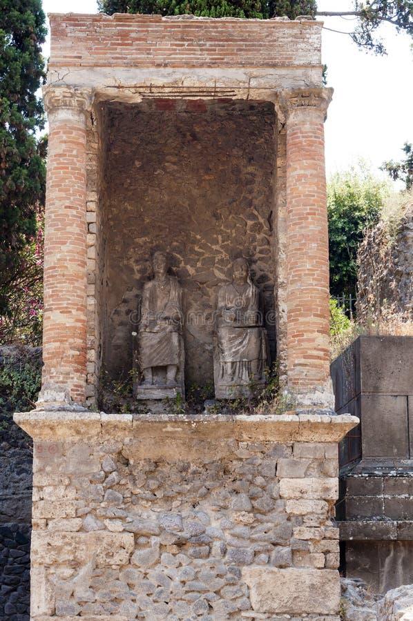 Pompeii. Roman Pompeii ruins, Necropolis of Porta Nocera in Regio I stock photography