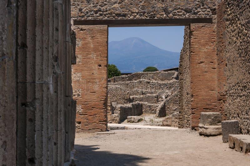 Pompeii. Roman Pompeii ruins, Triangolar Forum in Regio VIII royalty free stock photography