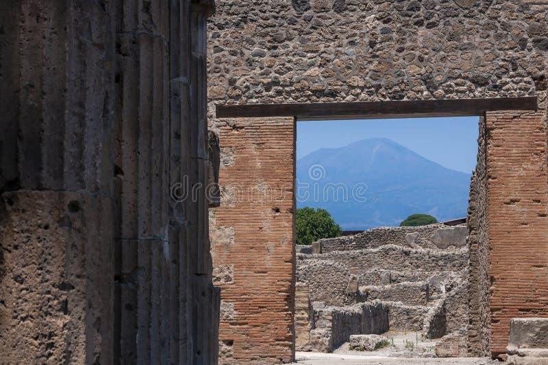 Pompeii. Roman Pompeii ruins, Triangolar Forum in Regio VIII royalty free stock images