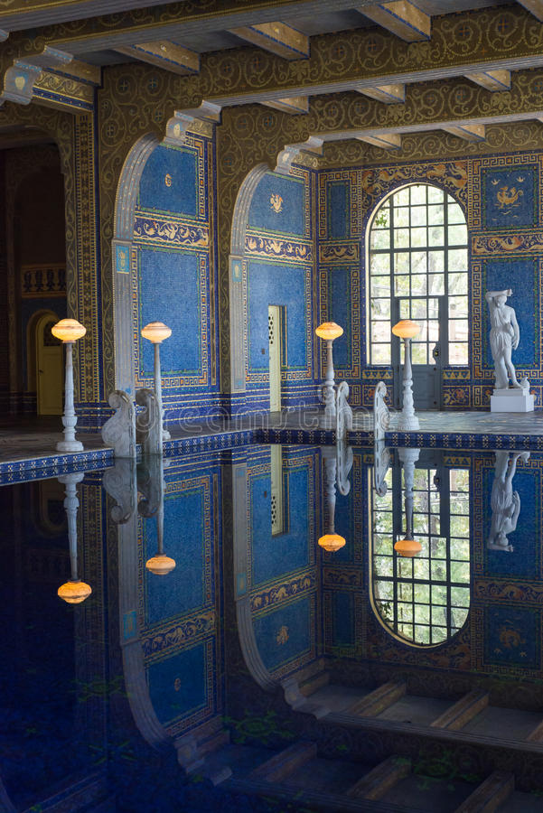 Roman Pool Hearst Castle royalty free stock images