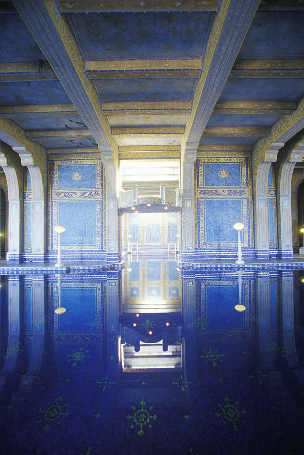 The Roman Pool Interior Swimming Pool At San Simeon Hearst Castle Ca Editorial Image Image
