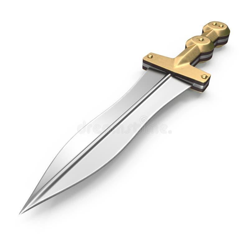 Roman Pugio Dagger no branco ilustração 3D ilustração royalty free