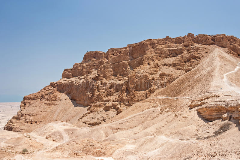 Roman Ramp at Masada in Israel royalty free stock image