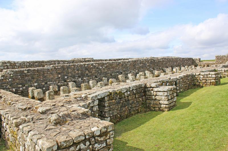 Roman remains at Housesteads, Northumberland royalty free stock photo
