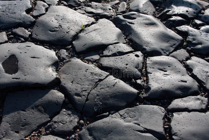 Roman Road. Basalt surface of a Roman Road at Vulci in Lazio Italy royalty free stock photo