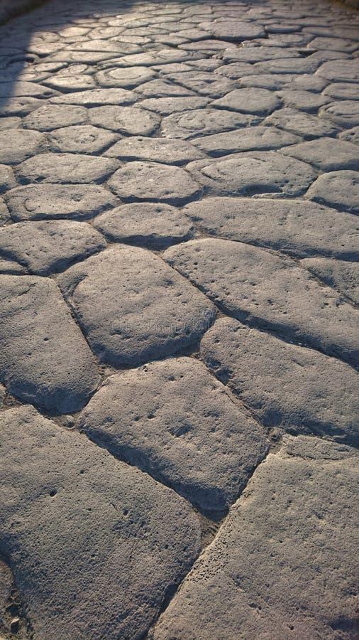 Roman Road Pompeii lizenzfreies stockfoto