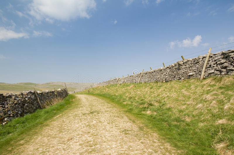 Roman road. In the Yorkshire Dales National Park royalty free stock photography