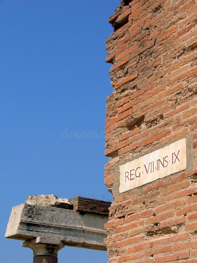 Roman ruïnes in Pompei royalty-vrije stock foto's