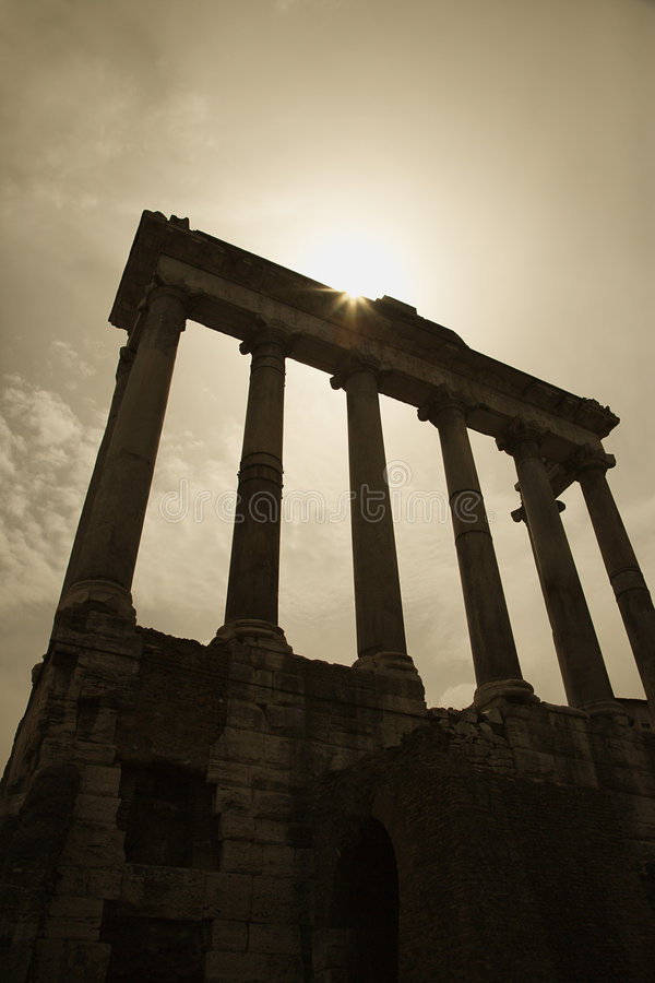Roman ruïnes van het Forum, Rome, Italië. royalty-vrije stock afbeeldingen