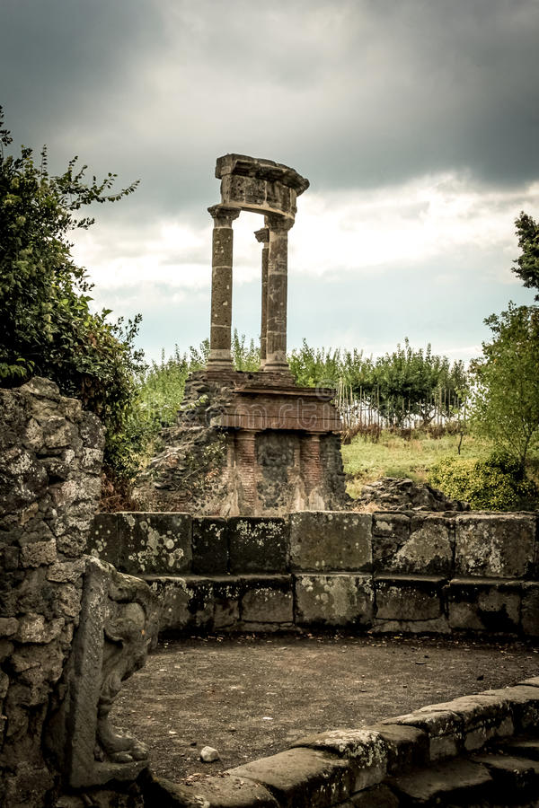 Roman ruin in Pompeii. Italy stock photos