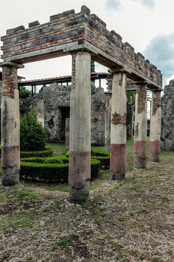Roman ruin in Pompeii. Italy stock images