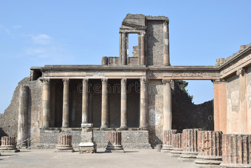 Roman ruin in Pompeii, Italy stock image