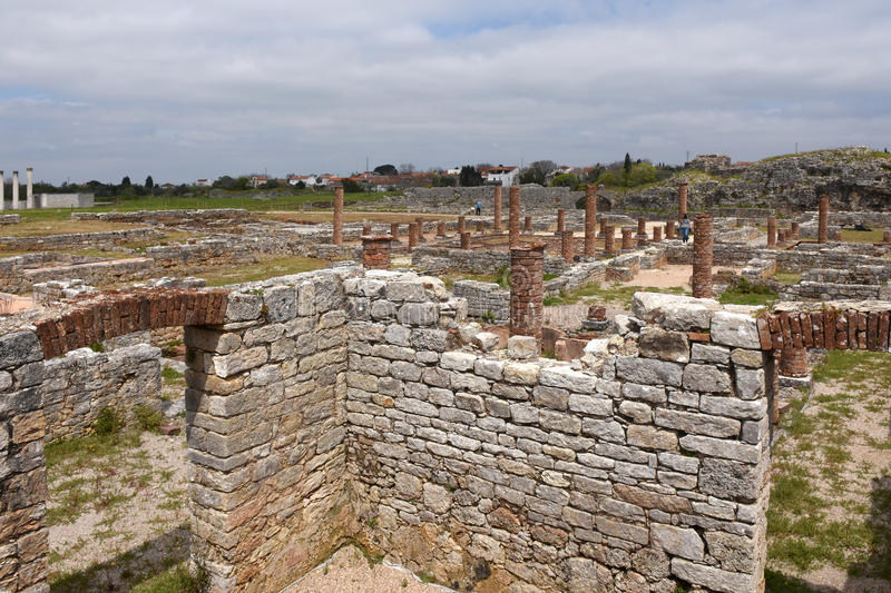 Roman ruins of the ancient city of Conímbriga,Beiras region, P. Ortugal stock photo