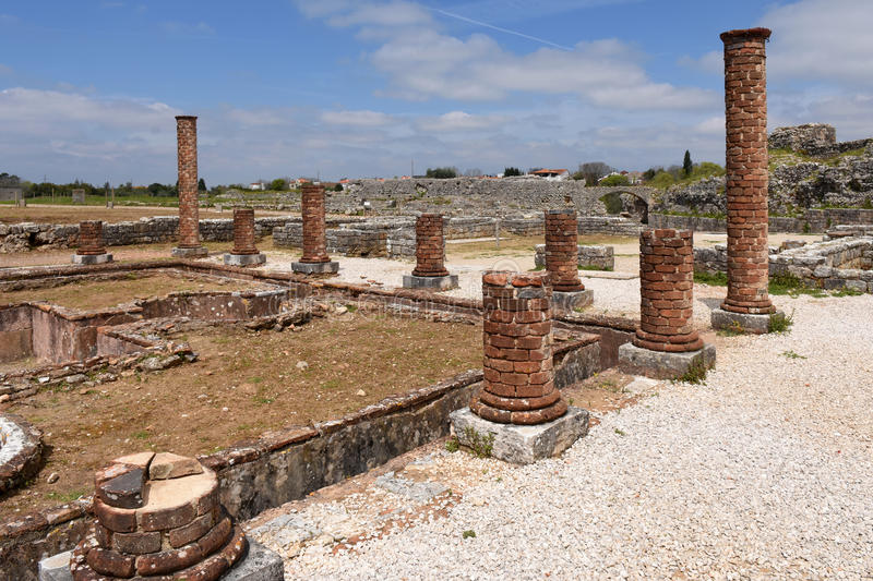 Roman ruins of the ancient city of Conímbriga, Beiras region, P. Ortugal royalty free stock photos